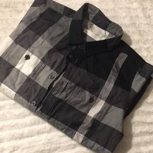 FLAWLESS Stripped Black And White KIDS BUTTON DOWN